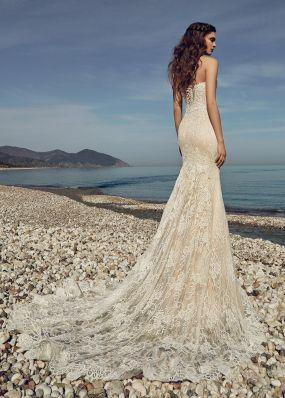 Свадебное платье-русалка с декольте SOL036