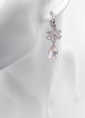 Серьги с кристаллами SS1701-06-01