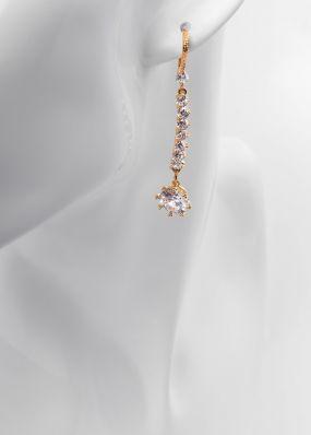Серьги с кристаллами SS1701-06-10