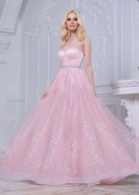 Длинное вечернее платье с пышной юбкой TB025B