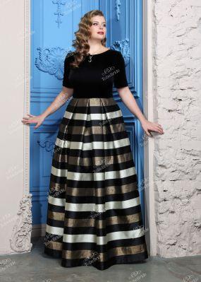 Длинное бархатное платье с вырезом на спине TB039B