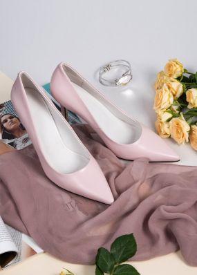 Светло-розовые туфли-лодочки на каблуках TBB009SH
