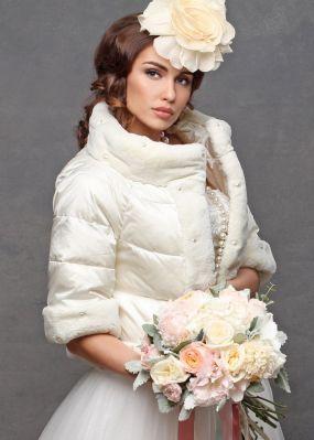 Болеро до пояса для невесты V16 0041