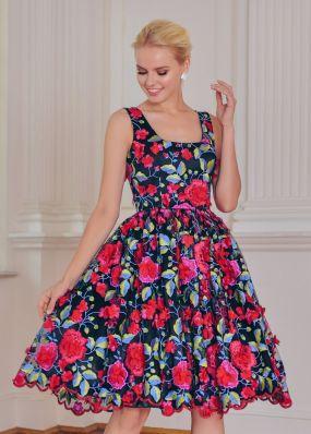 Короткое пышное вечернее платье VF019B