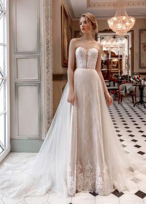 Свадебное платье без бретелей с корсетом ZAR008