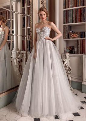 Пышное свадебное платье с кружевом ZAR011
