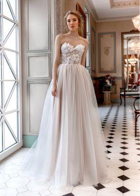 Свадебное платье с декольте ZAR013