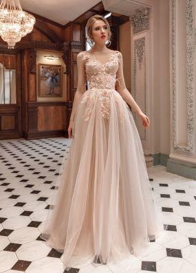 Свадебное платье с 3D цветами ZAR016
