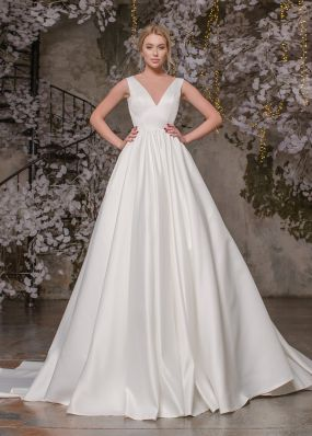 Атласное свадебное платье ZAR027