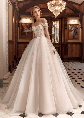 Свадебное платье с кружевным корсетом ZAR031