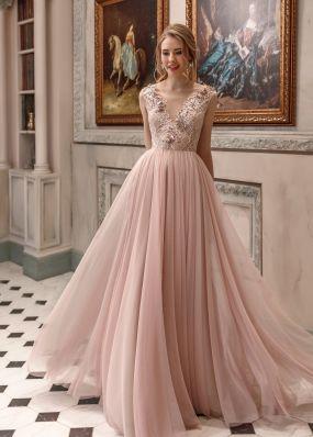 Свадебное платье цвета пудры ZAR033
