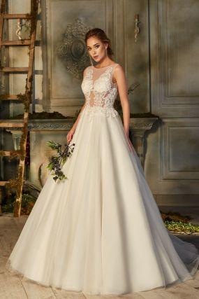 Пышное свадебное платье с открытой спиной ZBW004