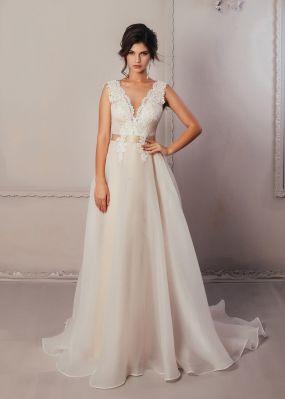 Свадебное платье из органзы ZCD006