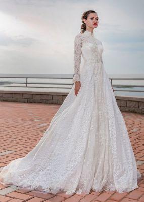 Закрытое кружевное платье Aria Di Lusso ZDL002