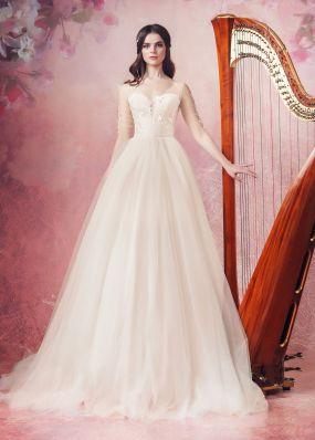 Свадебное платье с шлейфом Aria Di Lusso ZDL003
