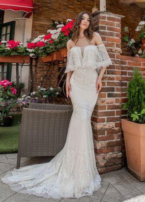 Кружевное платье-русалка Aria Di Lusso ZDL007