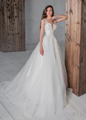 Пышное свадебное платье на широких бретелях Aria Di Lusso ZDL008