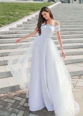 Свадебное платье с открытыми плечами Aria Di Lusso ZDL009