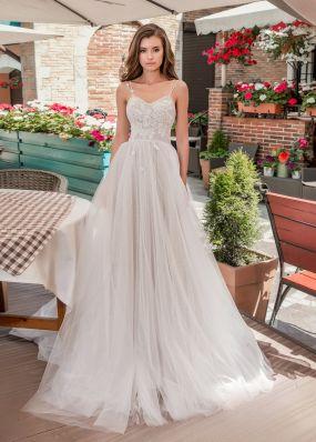Свадебное платье с фатиновой юбкой Aria Di Lusso ZDL011