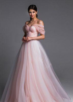 Розовое свадебное платье Aria Di Lusso ZDL012