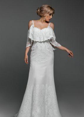 Свадебное платье с кружевом Aria Di Lusso ZDL019