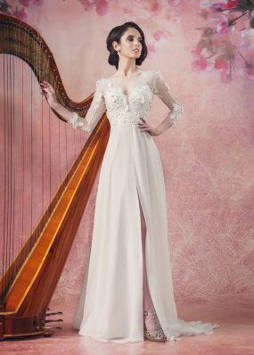 Прямое свадебное платье с разрезом Aria Di Lusso ZDL020