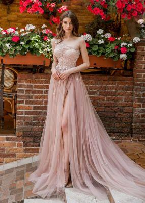 Фатиновое платье цвета пудры Aria Di Lusso ZDL021