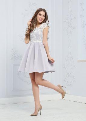 Коктейльное платье с кружевным верхом ZEK010B