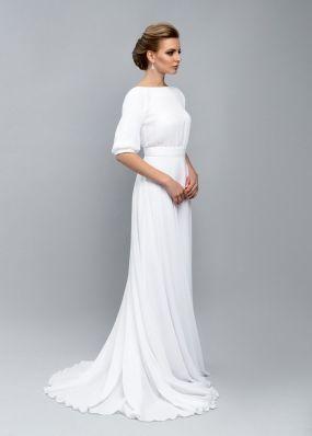 Платье невесты с открытой спиной ZEL002