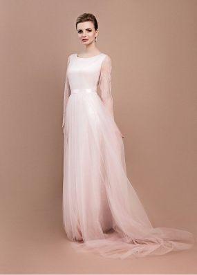 Легкое свадебное платье с рукавами ZEL005