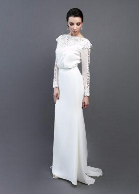 Прямое платье с кружевом макраме ZEL012