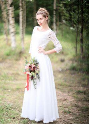Свадебное платье в стиле рустик ZEL013