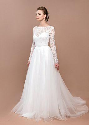 Свадебное платье с открытой спиной ZEL024