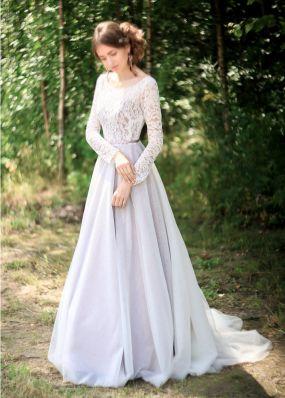 Нарядное платье из кружева и фатина ZEL024B