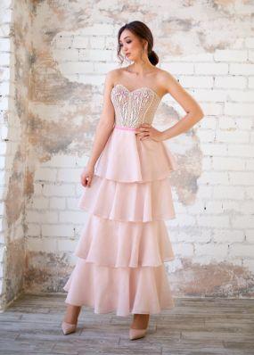 Корсетное платье с воланами ZEV005