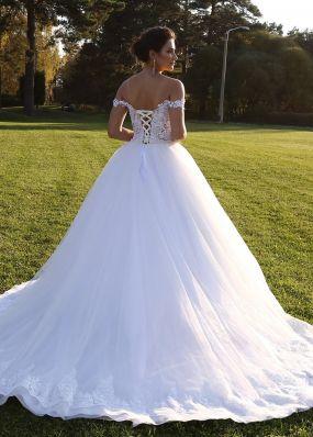 Свадебное платье с жемчугом ZIS008
