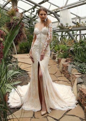 Оригинальное свадебное платье силуэта русалка ZIS018