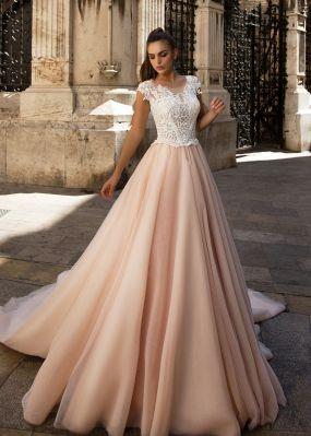 Свадебное платье с кружевным верхом ZIT002