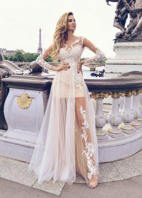 Оригинальное легкое свадебное платье  Anna RosyBrown 1822 Jennifer