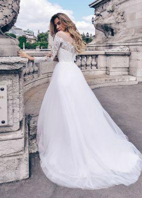 Закрытое длинное свадебное платье  Anna RosyBrown 1826 Veronica