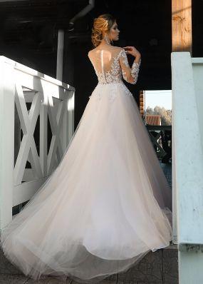 Фатиновое свадебное платье ZRN001
