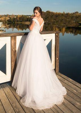 Свадебное платье со спущенным рукавом ZRN002