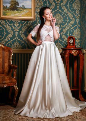 Свадебное платье с верхом из сетки ZRN008
