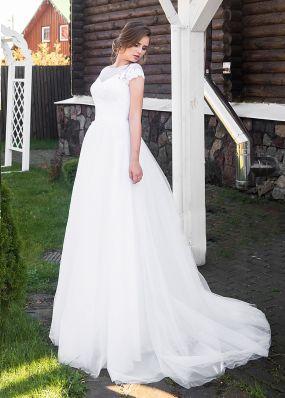 Белое свадебное платье ZRN012