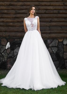 Свадебное платье из фатина ZRN016