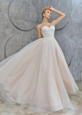 Свадебное платье с корсетом ZTB003