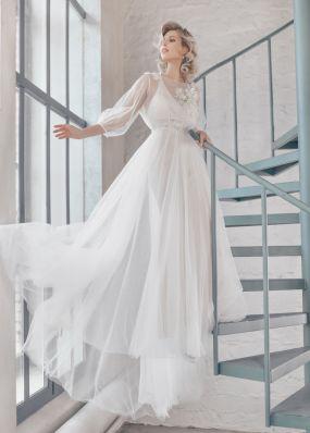 Фатиновое свадебное платье ZTB004