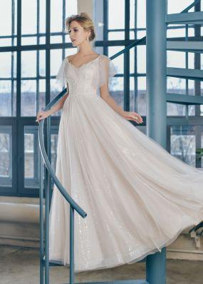 Свадебное платье с пайетками ZTB007
