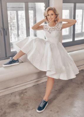 Пышное белое платье ZTB010