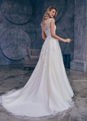 Красивое свадебное платье с кружевом ZTB011